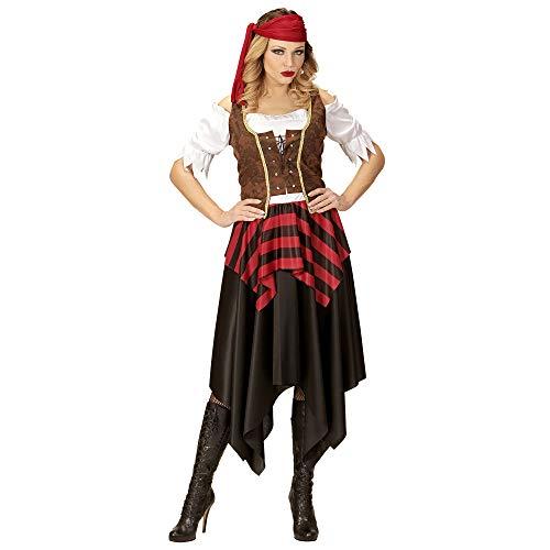 (Widmann 05623 Erwachsenenkostüm Piratin, Damen, Braun/Schwarz/Rot/Weiß, L)