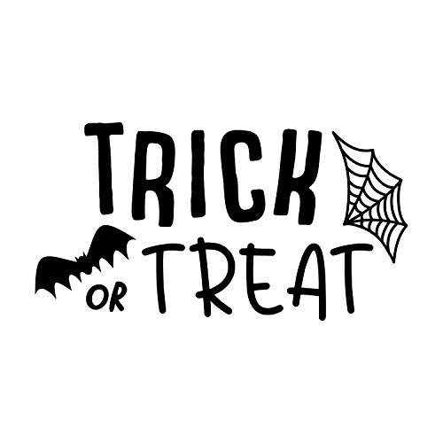 Trick Kostüm Und Treat - Wandtattoo aus Vinyl - Trick or Treat - 30,5 x 58,4 cm - lustige Gruselige Halloween-Dekoration - Kinder Teenager Erwachsene Innen Außen Wand Fenster Wohnzimmer Büro Decor