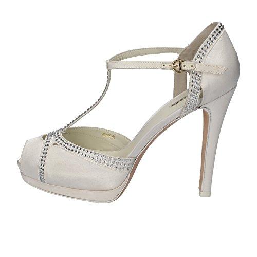 scarpe donna LUCIANO BARACHINI sandali bianco raso strass AH92 (40 EU)