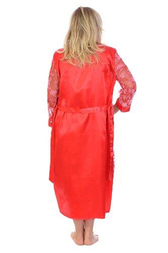 Nouvelle - Vestaglia - Floreale - Maniche lunghe  -  donna Red