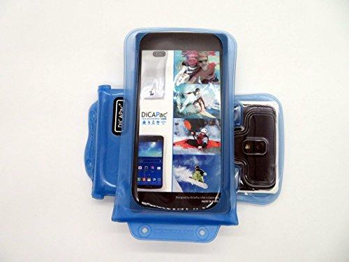 Note Galaxy Samsung Cdma 3 (DiCAPac WP-C2 Universelle wasserdichte Hülle für Samsung Galaxy Note 3 / 4 / 4 CDMA / 4 Duos / Edge Smartphones in Blau (Doppel-Klettverschluss, IPX8-Zertifizierung zum Schutz vor Wasser bis 10 m Tiefe; integriertes Luftkissen treibt auf dem Wasser & schützt das Gerät; extraklare Polycarbonat-Fotolinse; inklusive Trageriemen))