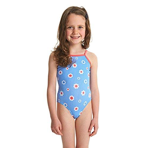Zoggs Mädchen Holiday Yaroomba Floral Badeanzug, Blue/Multi, 104 -