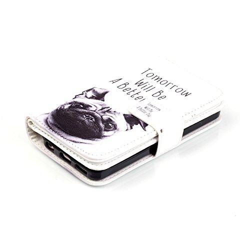 Etui Housse Coque iPhone 5C, Sunroyal® Premium PU Cuir Livre Style Case Cover avec Portefeuille Porte Credit Carte Protection Bumper Portable Skin Motif Plume Oiseau Pattern 11
