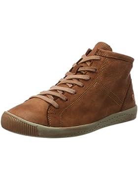 Softinos Damen Isleen Washed Hohe Sneaker