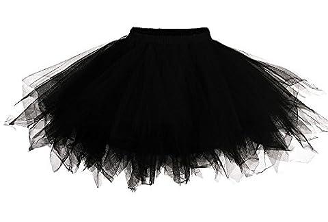 Mangotree Damen Retro Petticoat Kurz Rock Ballett Blase 50er Tüllrock Unterröcke 3 Layers Pettiskirt Unterkleid Tanzkleid