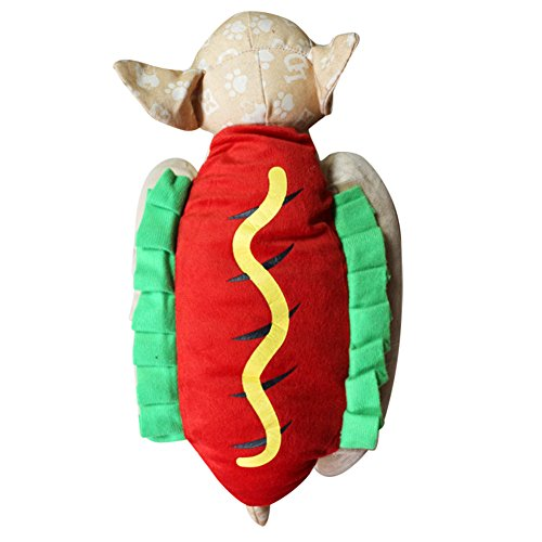 PU Ran Pet Puppy Funny Hot Dog Dress Up Kostüm Halloween Weihnachten Cosplay Kleidung