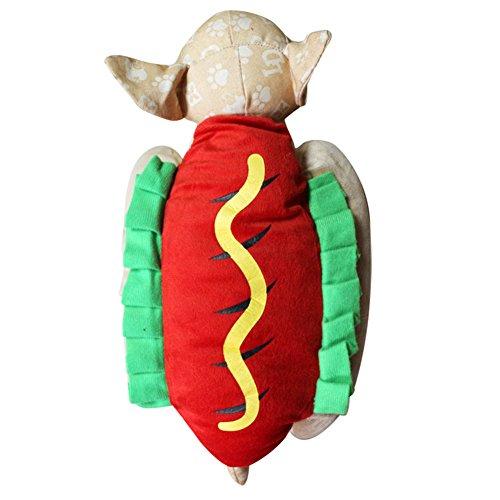 PU Ran Pet Puppy Funny Hot Dog Dress Up Kostüm Halloween Weihnachten Cosplay (Kostüm Vierbeinigen Halloween)