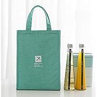 Preisvergleich für Yudanwin Leinwand-Lunch-Tasche Tragbare Wasserdichte Isolierung Lunchbox Tasche (grün)