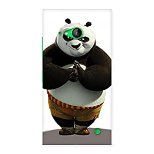 Special Punching Panda White Black Back Case Cover for Lumia 730