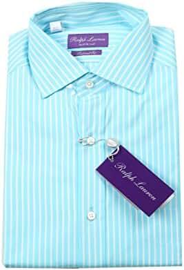 Ralph Lauren CL Purple Label Turquoise Striped Tailored Fit Shirt Size  39/15.5 U.S.