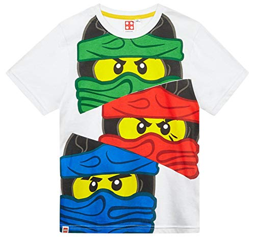 LEGO Ninjago T-Shirt Jungen Lloyd Kai und Jay (Weiß, ()