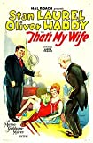 Thats My Wife - Laurel & Hardy - Classique Film Comic Poster - Super A2