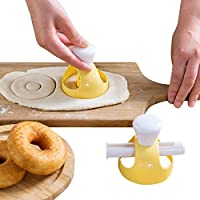 REFURBISHHOUSE 1 Unidades Donut Molde con Clip DIY Torta Torta Pan Postres Panaderia Cortador Marco Molde