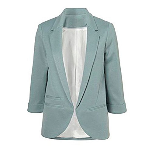 FACE N FACE Damen baumwolle rolled up sleeve no-buckle-blazer-jacken anzüge Smokedgrün XX-Large -