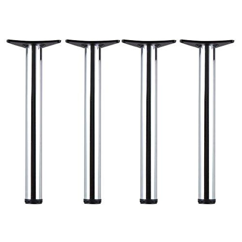 AllRight Edelstahl 4er Set Tischbeine Möbelfuss Verstellbar Ø60mm 4 Höhen 710mm