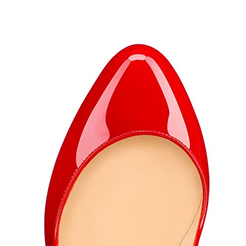 EKS , Plateforme femme Rouge - Rouge