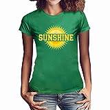 ❤Loveso❤ Kurzarmshirt Damen Rundhalsausschnitt T-Shirt Loose Shirt Tops Sunshine Drucken Tee Blusen Lässig Casual Top in Viele Farben