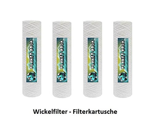 Filtergehäuse SET 10 Zoll mit 3/4″ Anschluß inkl. 5 Mikron Sediment Wickelkartusche GEHÄUSE – als Schmutz Wasser Vorfilter für Wasserfilter , Umkehrosmose Anlage Hauswasserwerk Brunnenwasser Garten Pool - 3