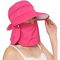 Kappe mit großem Visier, Sonnenblende, faltbarer Sonnenhut, für Radsport, aufsteckbare Zip-Gesichtsmaske, 360° UV-Schutz, ideal für Sport, Fischerei, Reisen, Strand