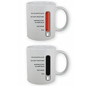 Baromètre avec graduation-mug-la couleur change zaubertasse