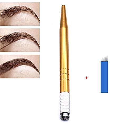 Pinkiou 3D Positionierung Augenbraue Tattoo Pen kosmetische Microblading Tattoo Pen Handmade...
