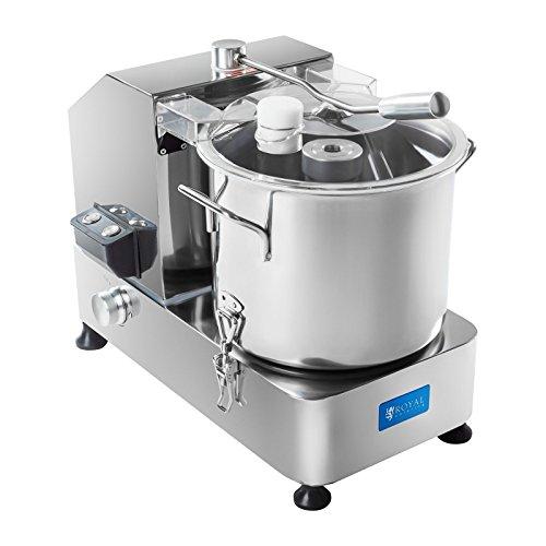 Royal Catering Tischkutter Fleischkutter Küchenkutter Cutter (6 L, 950 W, 230 V, 1100–2800 U/min, Edelstahl, Nachfüllöffnung, Emulsionsmesser)