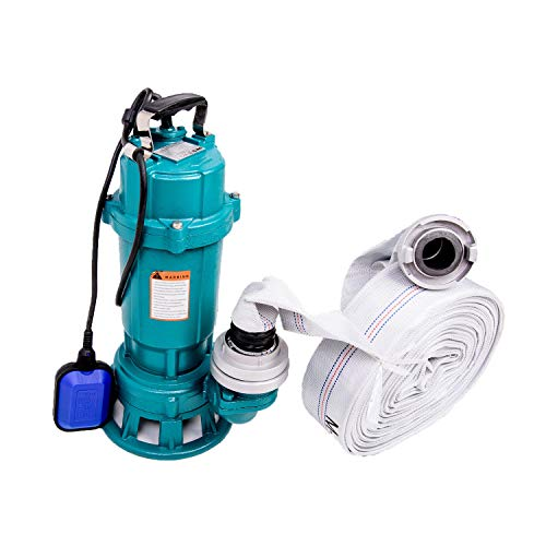 """Tauchpumpe 1500W IBO 1,5 kW mit Zerkleinerer + 2"""" Storz C + 20m Schlauch - Pumpe, Wasserpumpe, SCHMUTZWASSERPUMPE, SCHNEIDWERK, FÄKALIENPUMPE mit Bauschlauch"""