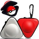 Reise-Tragetasche für Nintendo Switch Pokeball, dreieckig, stoßdämpfend, Harte Eva-Schutzhülle für Nintendo Switch Poke Ball Plus Controller (Rot und Weiß)