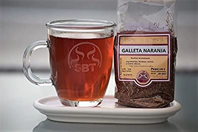 SABOREATE Y CAFE THE FLAVOUR SHOP Thé Rouge Rooibos Nature Afrique orange et des biscuits - 100 grammes