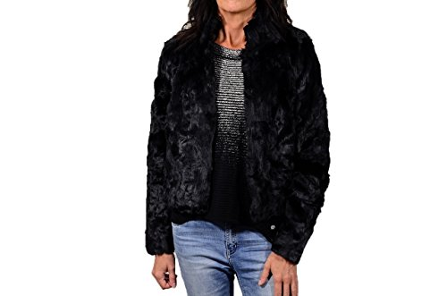 ONLY - Giacchetto donna collo alto new ruth fur jacket m nero