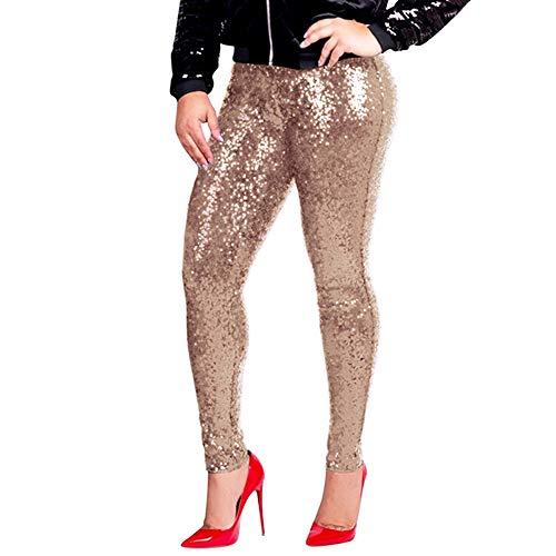 STRIR Mujeres Leggins Lentejuelas Brillantes Pantalón