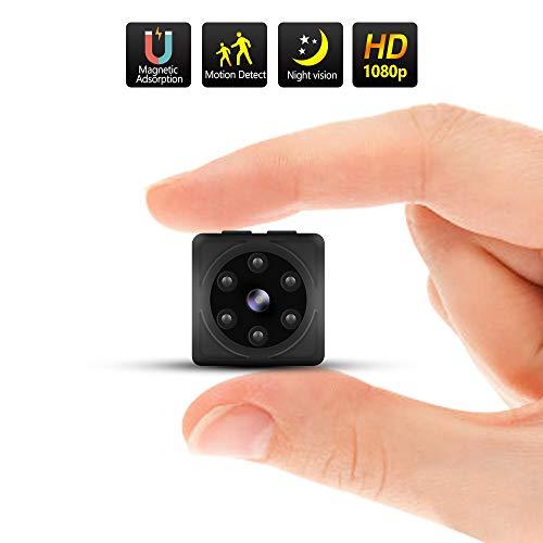 Mini Kamera, ODLICNO Full HD 1080P Überwachungskamera Wireless Tragbar mit Bewegungserkennung Infrarot Nachtsicht 140°Weitwinkel Mikro Nanny Baby Pet Cam Sicherheit Kamera für Innen und Aussen