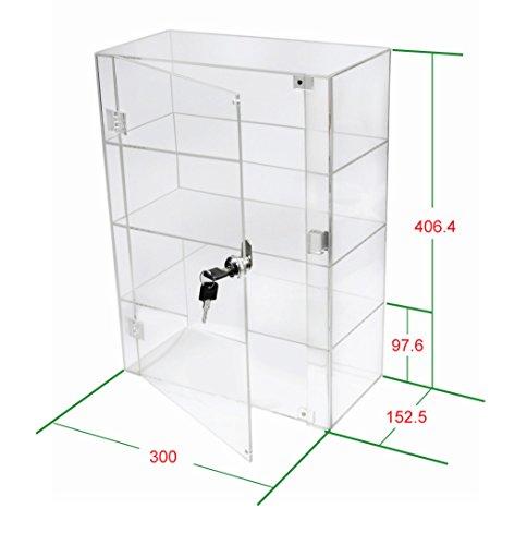 1klar Acryl Display Case mit Hochglanz Front Tür & Sicherheit Schloss db088a-06in