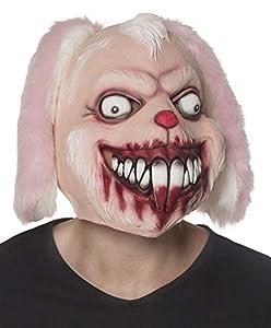 Boland 97566látex Cabeza máscara Horror Conejo, Color Rosa