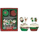 Premier Housewares - Juego de cápsulas y decoración para cupcakes (48 unidades), diseño navideño