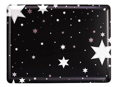 Platex 104030228S Plateau en stratifié Moyen Modèle décor Milky Noir Fond