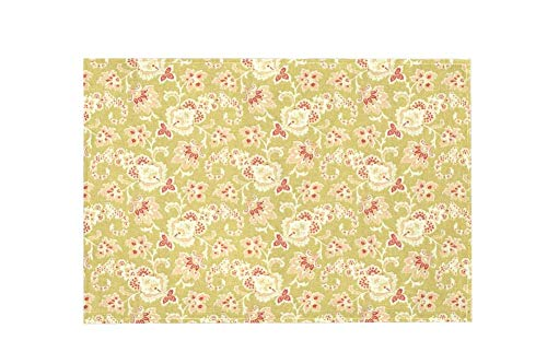 Floral Design Yellow Z009 Large Area Rugs,Dirty Children's Carpets for Living Roooms,Bedrooms,Children's Doormats 183x122cm/72x48in