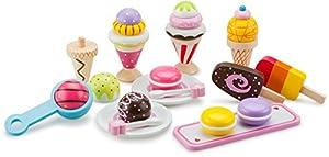 New Classic Toys-10630 Nuevos Clásicos Juguetes-0630-Imitación Juego-Cocina-Completar Hielo Paquete Deluxe, Color Madera (630)
