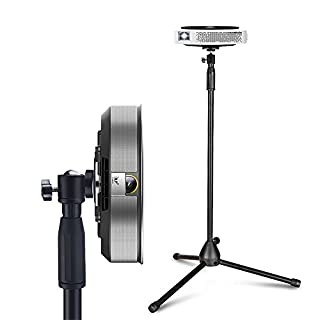 Portable Projector Stand, Auledio Lightweight Projector Tripod Floor Stand Holder with 360° Swivel Ball Head and Adjustable Height (29.5