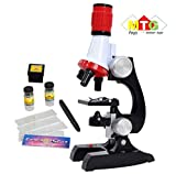Metro Toys Science Kits for Kids Beginner Microscope with LED 100X 400X
