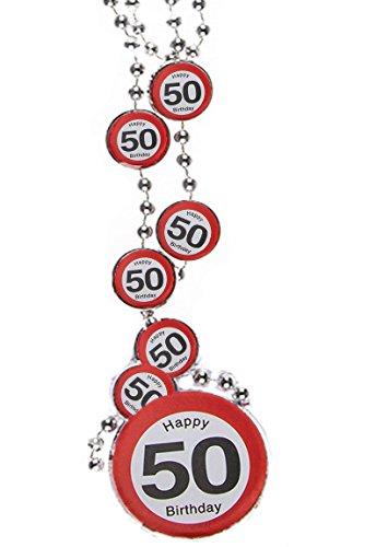 Bada Bing Kette Halskette 50 Geburtstag Happy Birthday and Sexy Warnschild Vorsicht 95
