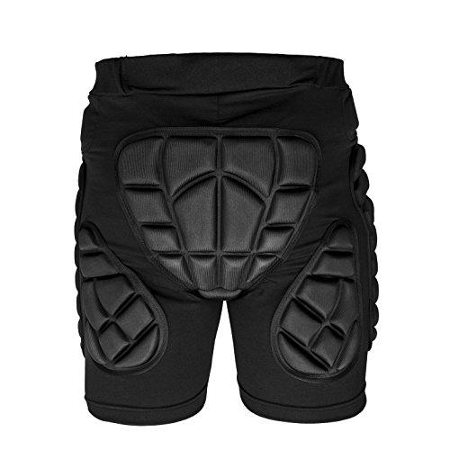 Schutzhose Protektorhosen Suplyss, 3D Gepolsterte Kompressions-Kurzschlüsse, Schützend Gepolsterte Kurzschlüsse Kompressionshosen für Snowboard Ski Motocross Basketball (L)