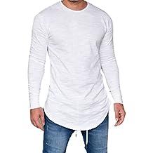 camisetas termicas hombre, Sannysis camisetas interior de manga larga con cuello en O blusa de
