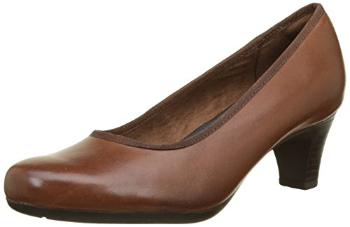 Rockport - Hezra Pump, Scarpe col tacco Donna Marron (Almond Leather)