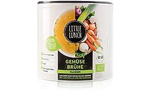 "Little Lunch Bio Brühe | ""Gemüsebrühe Klassik"" | Ohne Geschmacksverstärker | Zuckerfrei | Hefefrei | 420g | Vegan"
