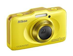 Nikon Coolpix S31 Digitalkamera (10 Megapixel, 3-fach opt. Zoom, 6,9 cm (2,7 Zoll) LCD-Display, bis 5m wasserdicht) zitrus gelb