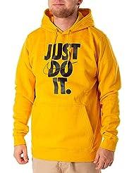 Nike M NSW HBR Hoodie PO FLC JDI Sudadera, Hombre, Amarillo (Yellow Ochre