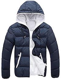 Ineternet Hommes Slim Casual chaud vers le bas veste à capuchon hiver épais  manteau Parka Doudoune 08ed91b41925