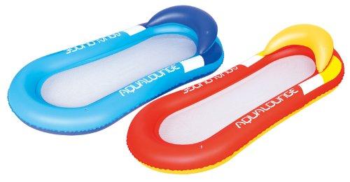 Bestway Luftmatratze Aqua Lounge mit Kopfpolster und Netz (Blau)