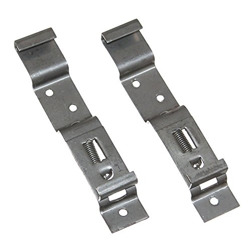 2 Universal Kfz Kennzeichenhalter Spannhalter Kennzeichenspanner Wechselkennzeichen Kennzeichen Nummernschild Halterung Metall Edelstahl Neu Old-Harvest